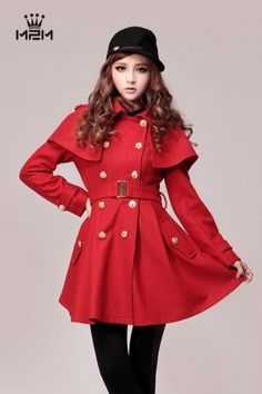 Winter Fashion Long Sleeve Double-Breasted Wind Coat