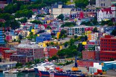 Jelly Bean Row in St. John's, Newfoundland, Canada | 17 Impossibly Colorful Cities You'll Want To Visit Immediately