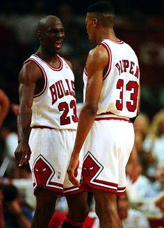 Michael Jordan and Scottie Pippen aka Batman and Robin!! #Bulls #Basketball #NBA