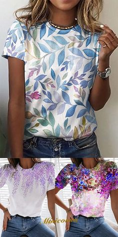Floral Style, Floral Tops, Leaf Prints, Floral Prints, Perfect Fit, Women's Tops, Blouse, How To Wear, Sew