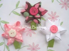 LiliBug SPRING FLOWERS Newborn Hair Clip Set by LiliBugBoutique, $12.00
