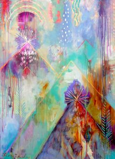 Into the Light, 2014 by Flora Bowley #florabowley #braveintuitivepainting