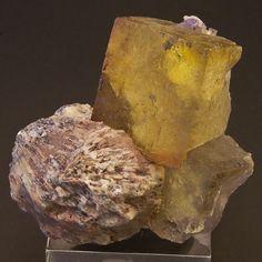Fluorite and Barite - El Hammam, Morocco