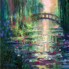 James Coleman, Garden Of Lilies Fantasy Art Landscapes, Fantasy Landscape, Landscape Art, Landscape Paintings, Fantasy Paintings, Nature Paintings, Pretty Art, Cute Art, Beautiful Paintings