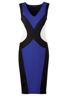 Klänning royalblå/svart/ullvit beställa online - bonprix.se