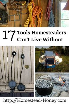 **READ**Expert homesteaders consider these 17 homesteading tools indispensable for their homes, gardens, and barns! Homestead Farm, Homestead Living, Homestead Survival, Survival Skills, Survival Gear, Survival Essentials, Homestead Gardens, Apocalypse Survival, Survival Stuff
