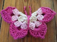 Free Crochet Butterfly Pattern http://re-madebysam.com/butterfly-crochet-pattern/