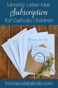 When you subscribe, you will receive a typewritten letter that will be packed in an envelope and mailed to you home. In addition to this, you will also receive an access link to a page filled with extra digital resources.  #catholickids #catholicresources #monthlysubscription #raisingcatholics #youngcatholics #snailmail #catholicstories #catholichome #catholiclife #handmade #catholichome #theblessedmother #ourlady #mary #immaculatakids #motherofgod #marymymother #homeschool #learnathome Liturgical Seasons, Word Search Puzzles, Catholic Kids, Our Lady, Book Lists, Sunday School, Envelope, Homeschool, Mary