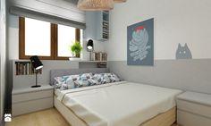 mieszkanie 35m2 pod wynajem - Mała sypialnia małżeńska, styl skandynawski - zdjęcie od Grafika i Projekt architektura wnętrz