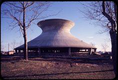 James S. McDonnell Planetarium under construction. Photograph taken by Henry T. (Mac) Mizuki, probably in the winter of 1961-1962.Mac Mizuki Photography Studio Collection, Missouri History Museum.