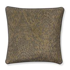 Printed Serpent Velvet Pillow Cover, Tan | Williams-Sonoma