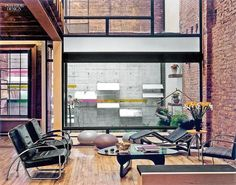 Marpillero Pollak Architects's live-work duplex in TriBeCa