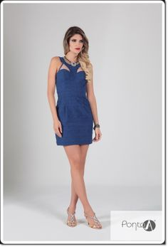 Pro happy hour da sexta  vestido azul maravilhoso é de Jacquard da coleção Sophistiqué inverno 14 Pontoamoda. #Divo #lookamopontoamoda #Tendência