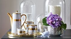 Interiors by Jean-Pierre de la Chaumette. Coffee Set, Espresso Coffee, Small Canvas, Cottage, Interiors, Table Decorations, Mugs, Tableware, Green