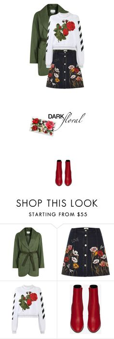 """""""In Bloom: Dark Florals   20 Jan 2017"""" by kristinksn ❤ liked on Polyvore featuring Étoile Isabel Marant, River Island, Off-White, Yves Saint Laurent, Dolce&Gabbana and darkflorals"""