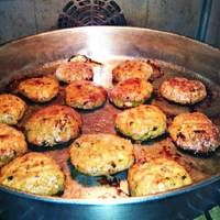 Μπιφτέκια φούρνου αφράτα Cookbook Recipes, Cooking Recipes, Zucchini, Meat, Chicken, Vegetables, Ethnic Recipes, Desserts, Food