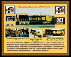 A Pictorial of the Caterpillar That Became the ATSF 5855 in1988