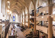 15th century church converted into a bookshop