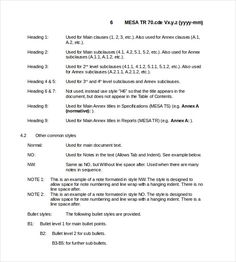 template technical report