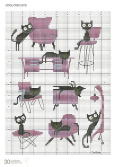 New Embroidery Modern Cat Ideas Cat Cross Stitches, Cross Stitching, Cross Stitch Embroidery, Hand Embroidery, Cross Stitch Patterns, Funny Embroidery, Cross Stitch Boards, Cute Cross Stitch, Cross Stitch Animals