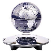 Free Shipping New 4 inch LED light magnetic levitation floating globe,anti gravity rotation, home decoration gifts &crafts(China (Mainland))