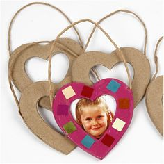 Fotolijst hartvormig, 7 cm, hart, 6 stuks