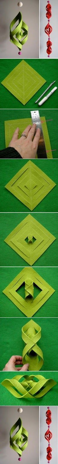 Kidissimo: Une décoration de noël à fabriquer soi-même en feutrine.