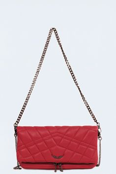 Welt Pocket, Beautiful Bags, Shoulder Bag, Wool, Stuff To Buy, Totes, Zadig And Voltaire, Red, Bag