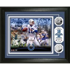 Peyton Manning 'Colts Career' Silver Coin Photo Mint