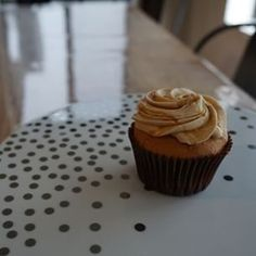 Salted caramel cupcakes for breakfast going DOWN at @thegaragekitchen ... can we crash your party?