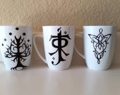 diy lord of the rings mugs - Google Search