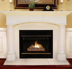 The Valinda lightweight cast stone fireplace mantel has an arched design. Fits fireplaces from to wide with the look and feel of a carved stone mantel.