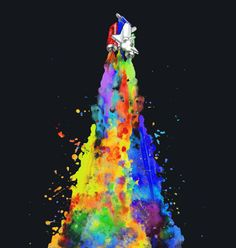 Space Needs Color custom t-shirt design by Arteaga Sabaini #space #color #tshirt