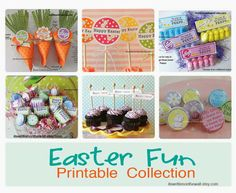 It's Written on the Wall: Our Easter Fun Printable Collection is Here! Ideas for Easter Basket Treats