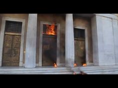 Greece: Athens burns amid general strike against austerity - YouTube