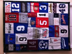 Sports T-shirt Quilt using baseball jersey