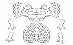 Potisknutelné čínské Masky a omalovánky Dragon Mask