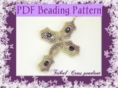 (5) Name: 'Jewelry : DIY Beading pattern Tribal Cross pendant