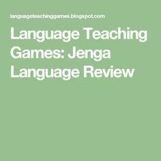 Language Teaching Games: Jenga Language Review