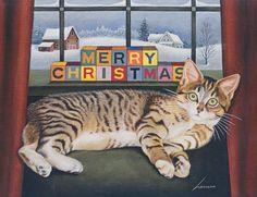 Merry Christmas Cat