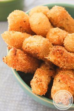 Palitos de Mozzarella Empanados - Stick de Queijo   Petiscos para o Verão