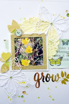 #papercraft #scrapbook #layout Grow by Anke Kramer at @Studio_Calico