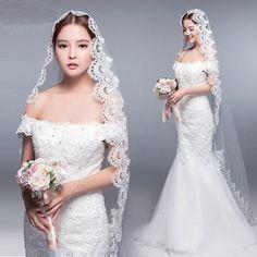 ウェディングベール花嫁ブライダルヴェール60cm~90cm2段ベールコーム付きシンプル White Tulle, Tulle Lace, Lace Dress, Lace Weddings, Tulle Wedding, Wedding Gowns, Wedding Events, Wedding Ideas, Wedding Accessories