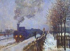 Train in the Snow - Claude Monet canvasreplicas.com