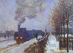 Train in the Snow - Claude Monet