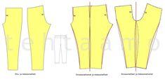 t e h t a a m o: Legginssit sisä- tai sivusaumattomiksi Sewing Hacks, Sewing Tips, Sewing Patterns, Projects To Try, Handicraft Ideas, Fashion, Tunic, Moda, Fashion Styles