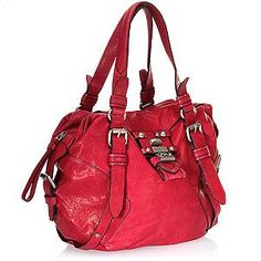 Love a red bag!