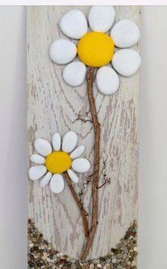 Stone art flowers
