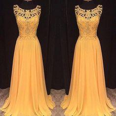 yellow prom Dress,long Prom Dress,charming prom dress,2016 prom dress,evening dress,BD1405