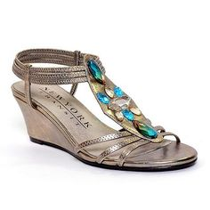 New York Transit Greet Them T-Strap Wedge Sandals - Women